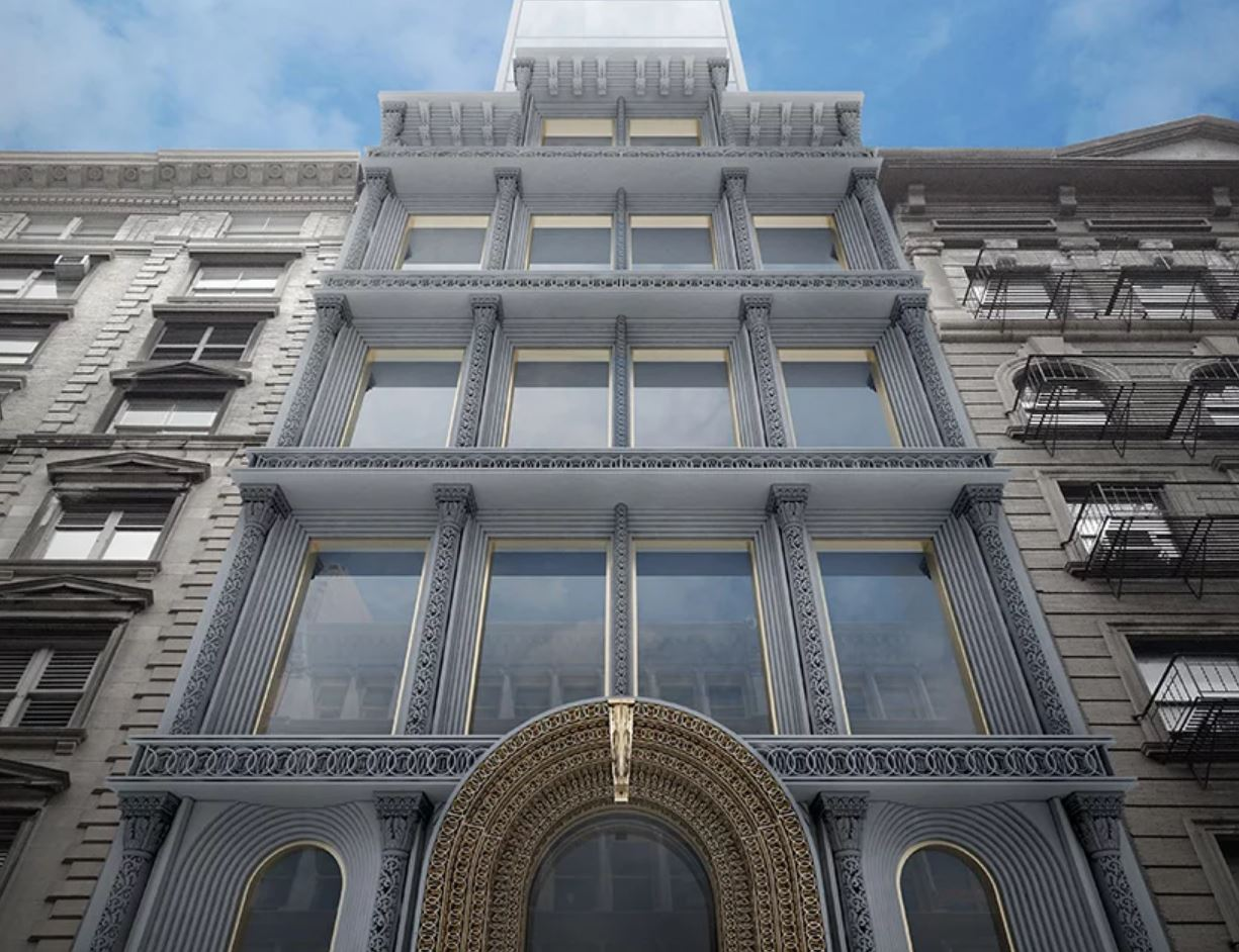 Render of a facade produced with 3D printing. Image via EDG.