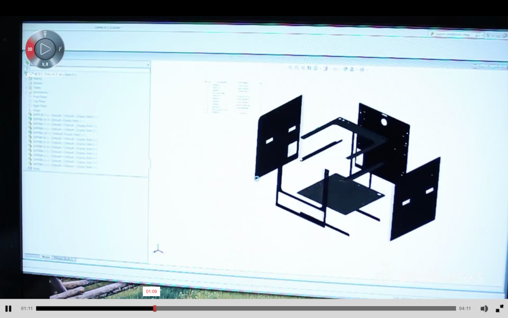 Design of dddrop 3D printer housing in SOLIDWORKS. Image via Dassault Systèmes