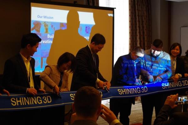 Shining 3D CEO Li Tao opens new offices in San Francisco. Photo via Shining 3D.