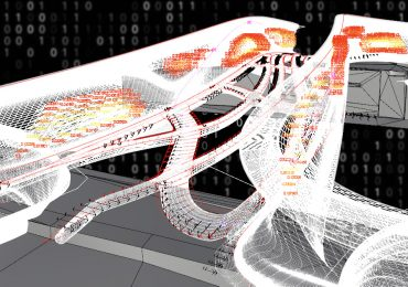 Concept visualization of data capture from the 3D printed bridge. Image via MX3D