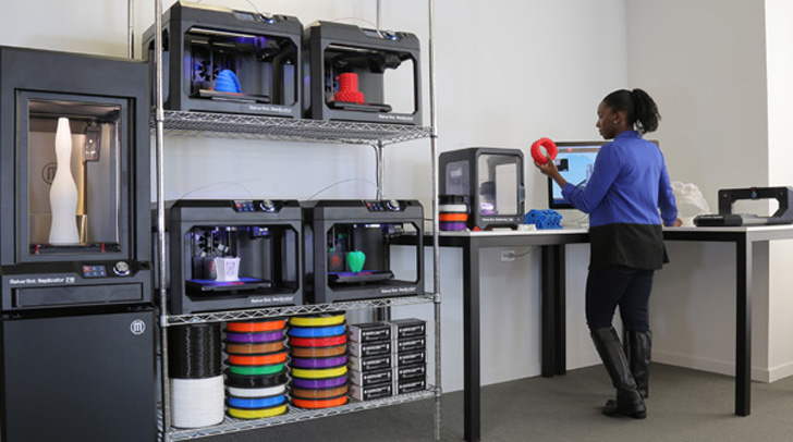 The Makerbot Starter Labs set-up. Photo via Makerbot.