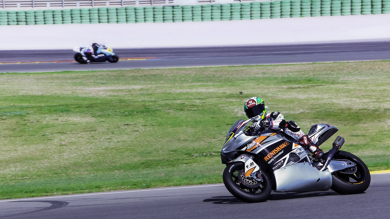 TransFIORmers Moto2 bike, sponsored by Renishaw. Photo via TransFIORmers.
