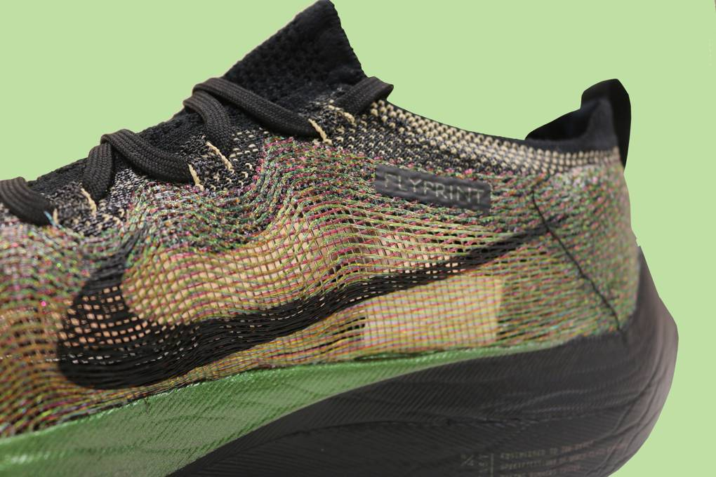 Wave pattern on the Nike Flyprint shoe. Photo via WIRED.