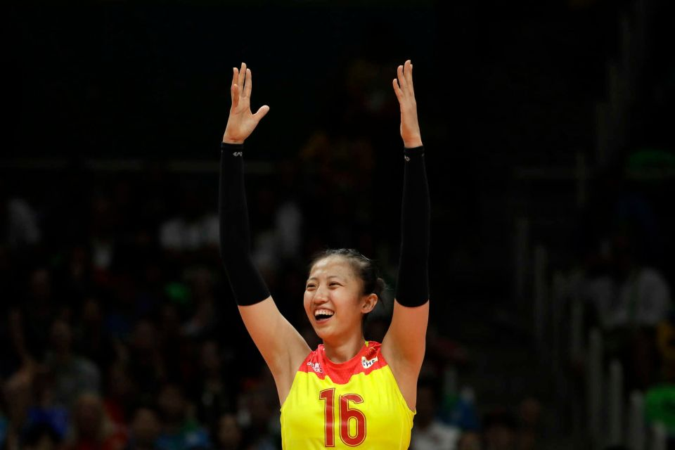 Olympic team member Ding Xia. Image via Getty Images/Buda Mendes.