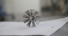 Metal 3D printed component. Photo via United Engine Corporation