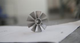 Metal 3D printed component. Photo via United Engine Corporation