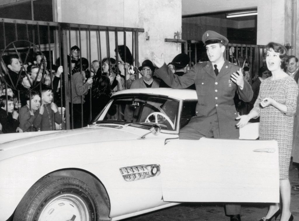 Elvis Presley's BMW 507. Photo via BMW