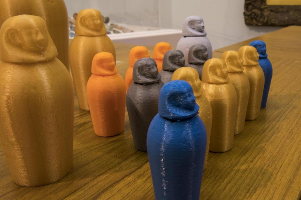 Touchstones souvenir canopic jars. Photo via Fab Lab Warrington