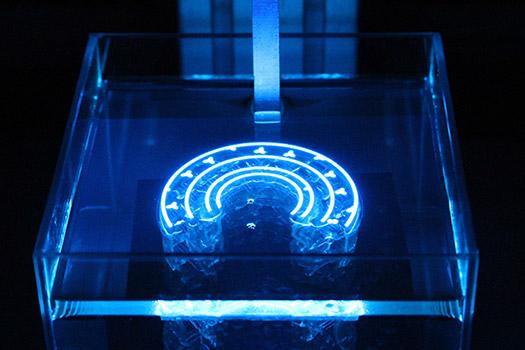 Tough rubber 3D printed material. Photo viaAdaptive3D Technologies