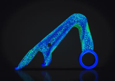 A part in development using TrueSOLID™ generative design. Image via Frustum