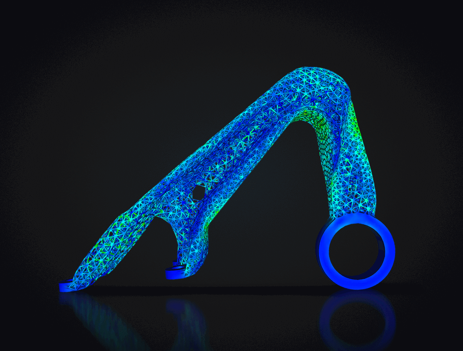 A part in development using TrueSOLID™ generative design. Image via Frustum