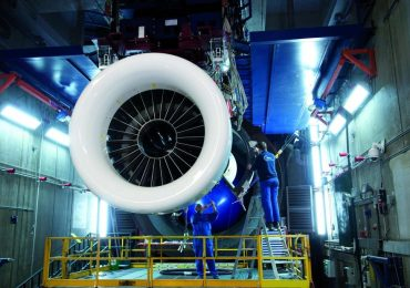 The PW1000G engine in assembly at MTU Aero Engines. Photo via MTU