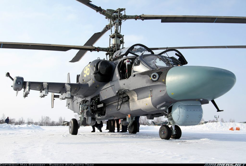 "The Kamov Ka-52 ""Alligator"" helicopter. Photo via Airliners.net"