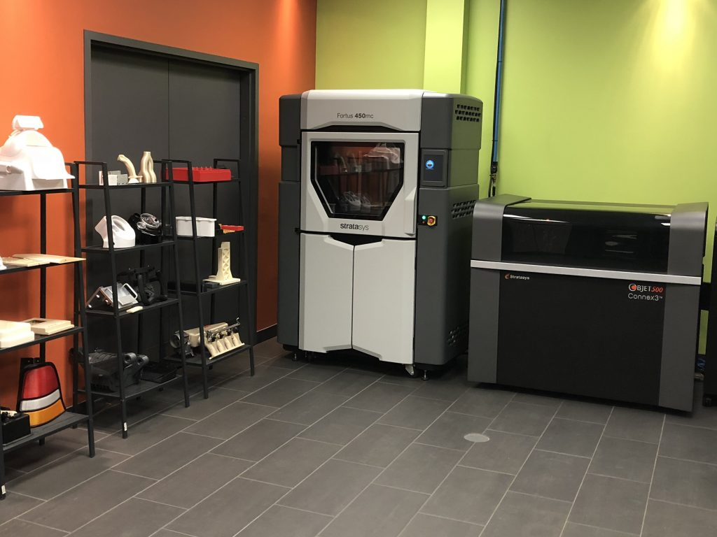 Printers at the Cimetrix additive manufacturing lab in Oshawa, Ontario.