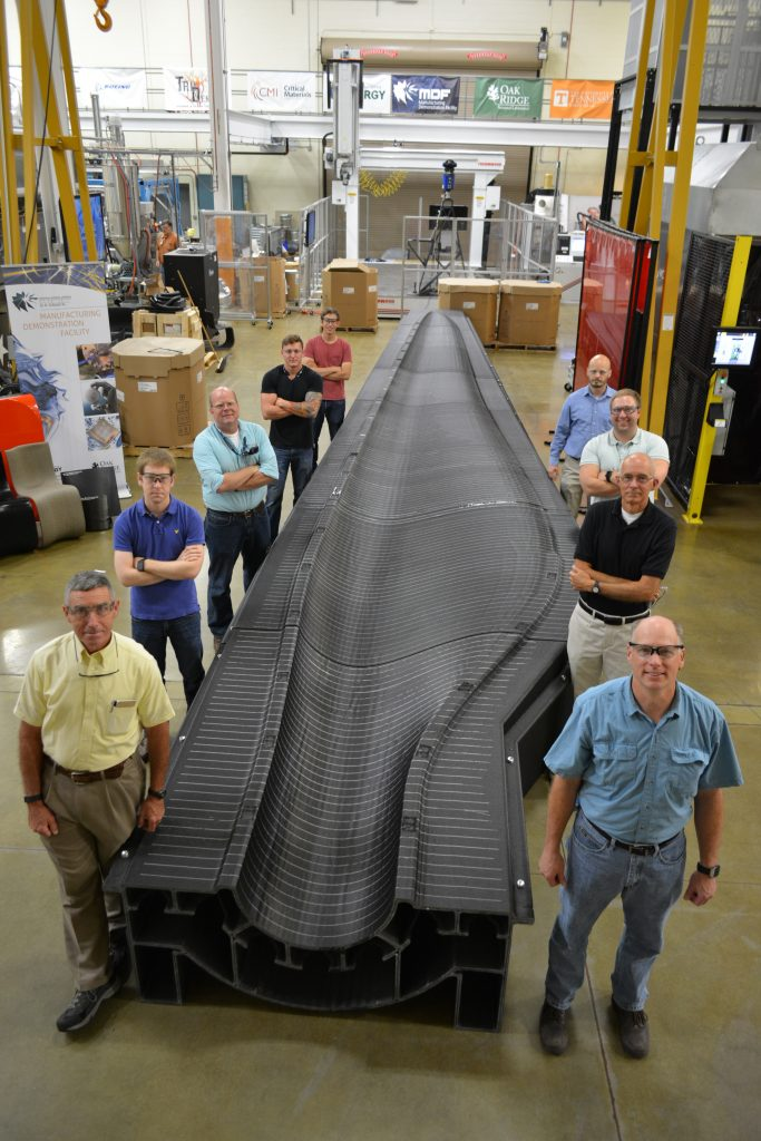 3D printed wind turbine blade mold. Photo via Sandia National Laboratories.
