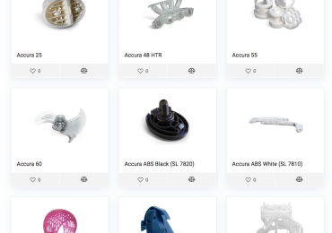 3D printing materials available on the 3DCompare site. Image via 3DCompare.