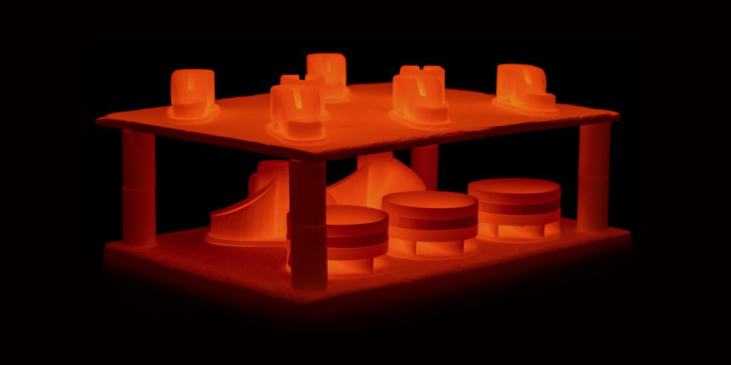 The Desktop Metal Studio System™ furnace sinters parts to temperatures near melting, producing metal parts with properties comparable to wrought metal.
