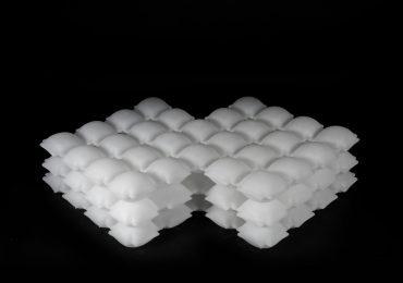 Liquid Printed Pneumatics. Photo via MIT Self-Assembly Lab