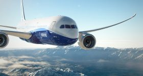 The Boeing 787 Dreamliner. Photo via Boeing
