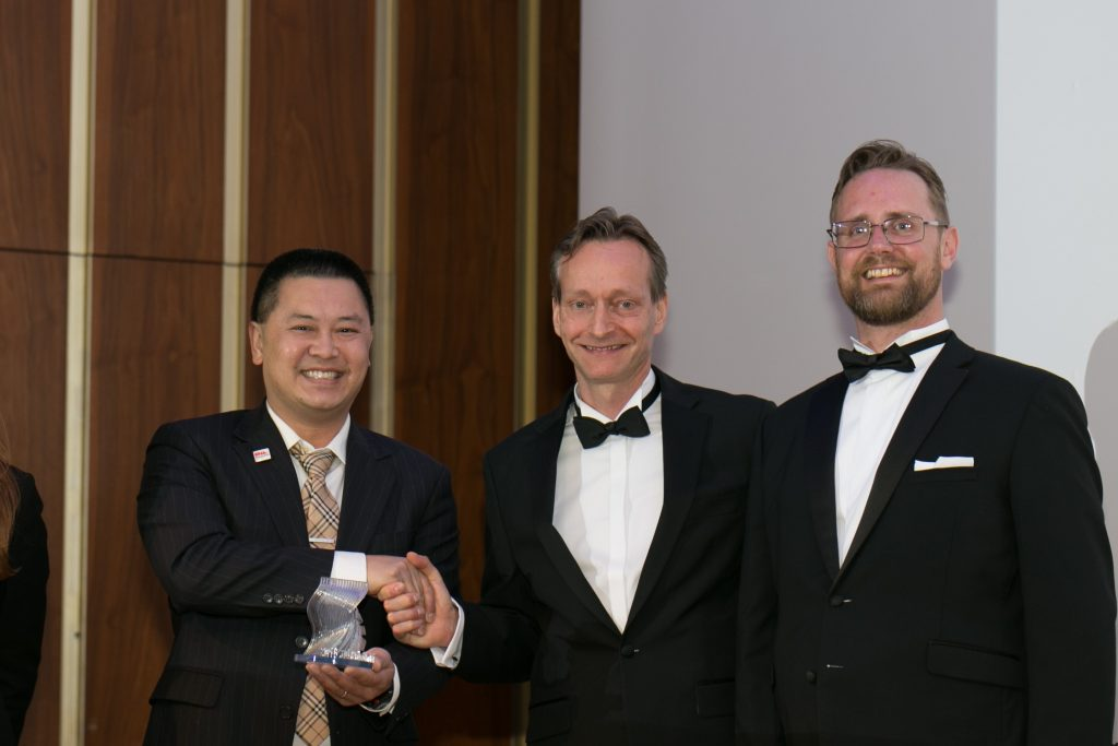 Bjoern Klaas, Vice president and Managing director for Protolabs Europe [center].