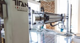 Titan Robotics gantry in the Cronus 3D printer. Photo via Titan Robotics