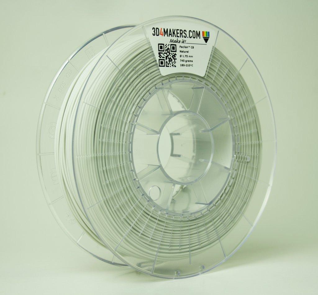 Facilan C8 filament. Photo via 3D4Makers.