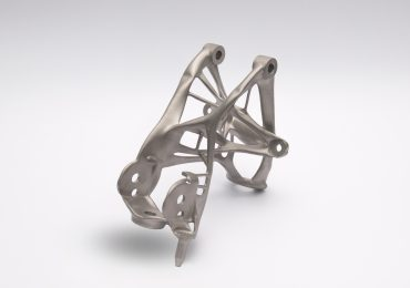 Car part made using Autodesk generative design. Image via General Motors