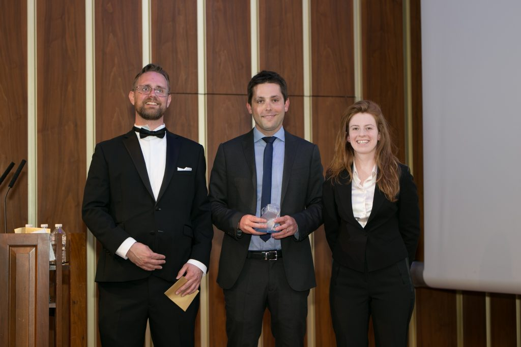 Jimmy Littman, Formlabs Country Manager for UK & Ireland collected the 2018 3D Printing Industry Award for the Form 2.