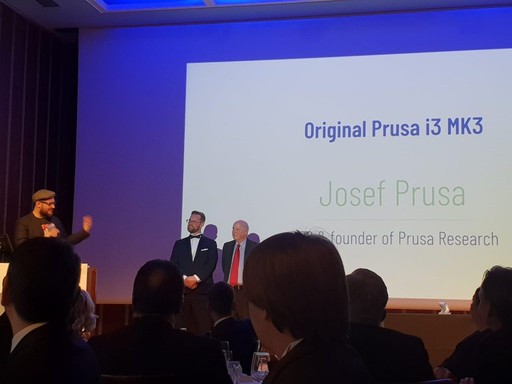 [L-R] Josef Prusa, Michael Petch and Dr. Adrian Bowyer.
