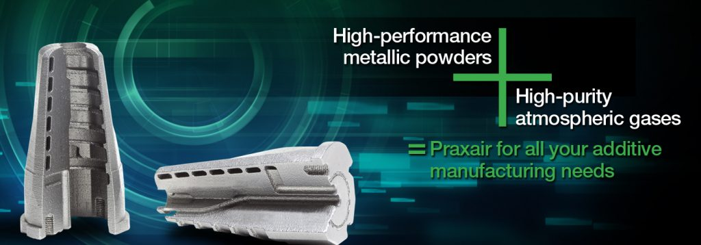 Metal additive powders from Praxair.