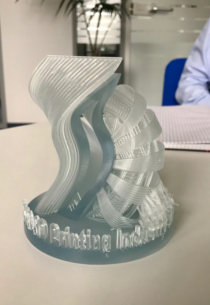 Protolabs are 3D printing the 2018 Awards. Photo via Protolabs.