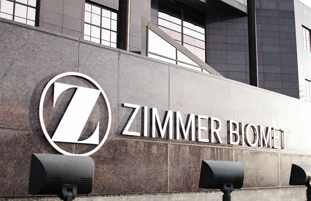 Zimmer Biomet HQ in Indiana. Photo via Zimmer Biomet