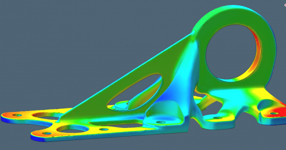 Sample component simulated in Simufact Additive. Image via Simufact Additive