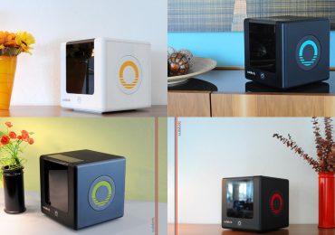 Accent colors for the Cubibot 3D printer. Photos via Cubibot