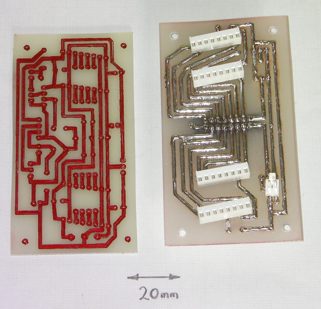 PCBs made using the RepRap Darwin. Photo via Adrian Bowyer