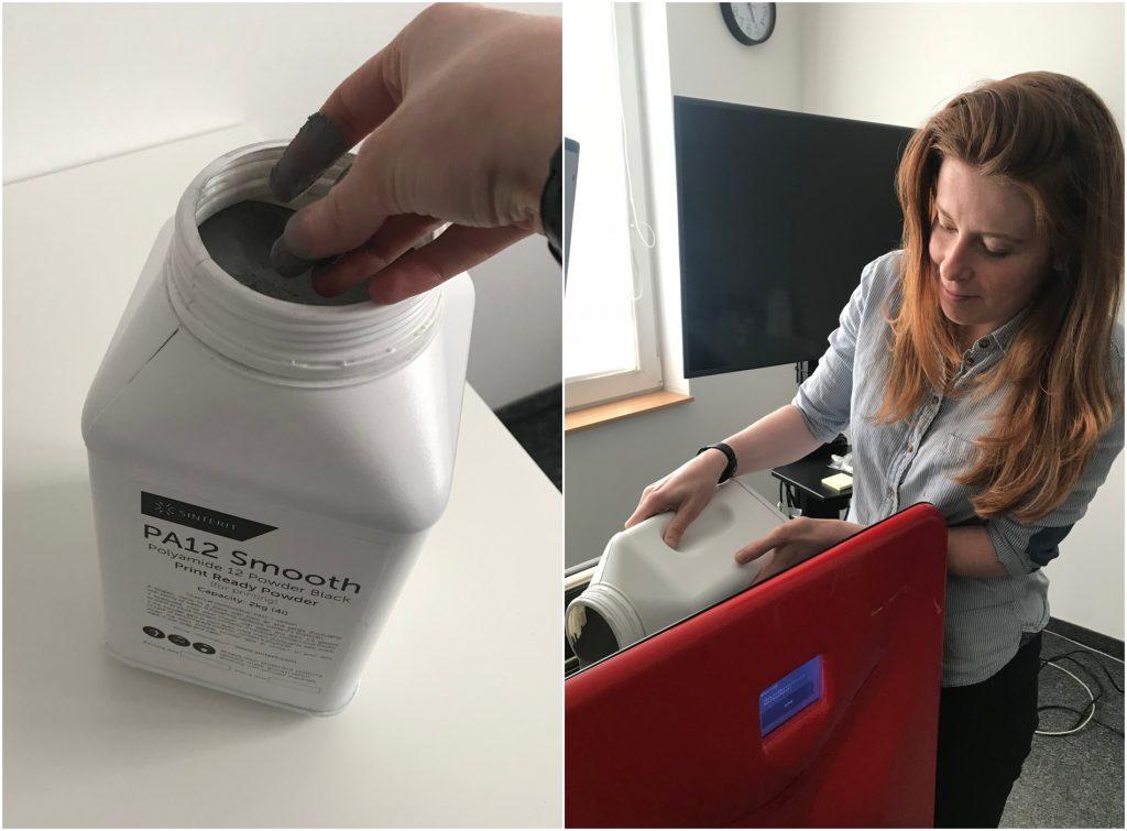 Preparing the printer. Photos via Beau Jackson