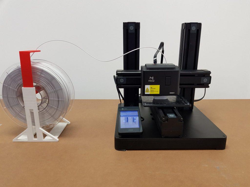 The assembled DOBOT MOOZ 3D printer.
