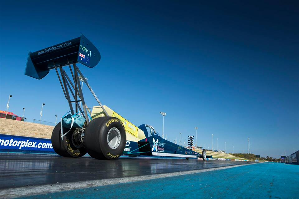 The Top EV Racing solar powered dragster. Photo via Top EV Racing