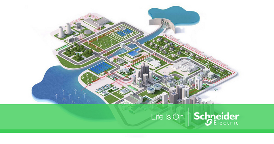 Schneider Electric Life is On graphic.