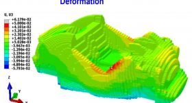 Alphastar's 3DP Simulation software deformation prediction for Big Area Additive Manufacturing (BAAM). Image via Alphastar.