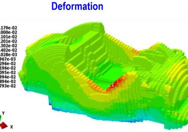 Alphastar's 3DP Simulation software deformation prediction for Big Area Additive Manufacturing (BAAM). Image via Alphastar.