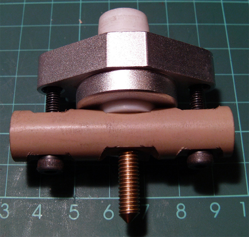 An early DIY hot-end made by RichRap. Photo via RichRap.
