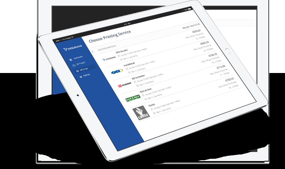 Enterprise Platform iPad view. Image via 3YOURMIND
