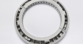 Metal oil sealing ring for an industrial steam turbine, designed and produced by Siemens using additive manufacturing. Photo via Siemens