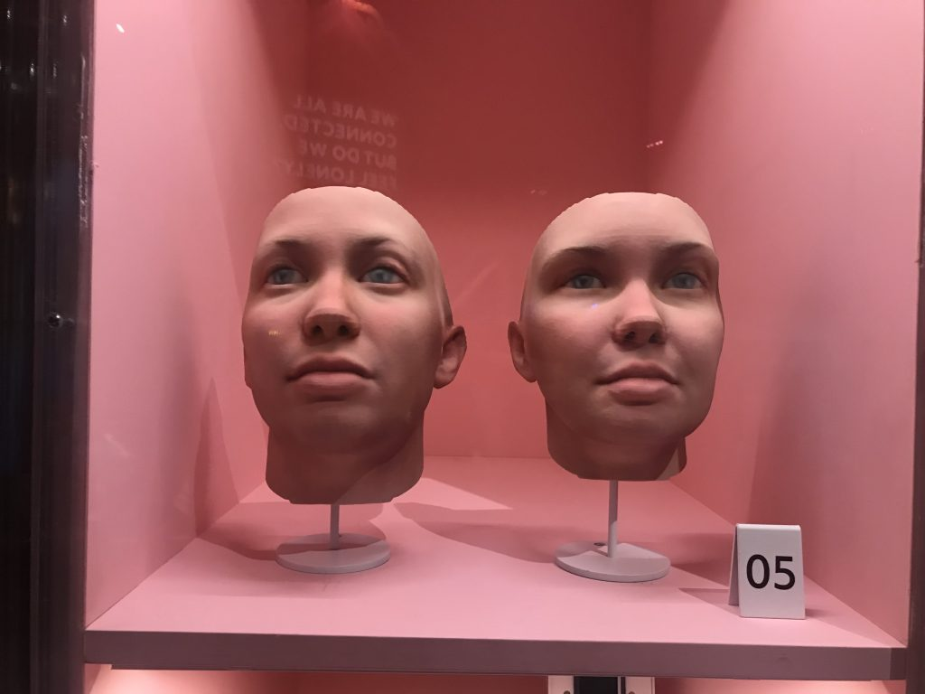 Radical Love: 3D printed portraits of activist Chelsea Manning by artist Heather Dewey-Hagborg. Photo by Beau Jackson