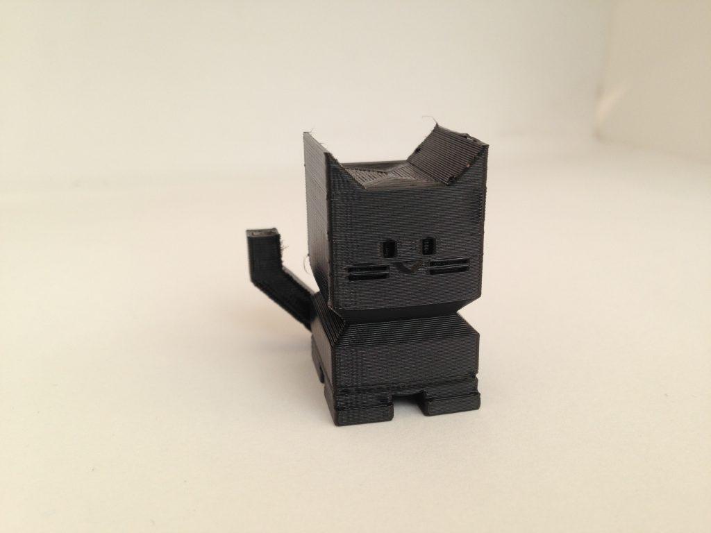 A Cali Cat 3D printed in Fiberlogy Fiberflex 40D.
