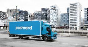 A PostNord delivery truck. Photo via PostNord Strålfors