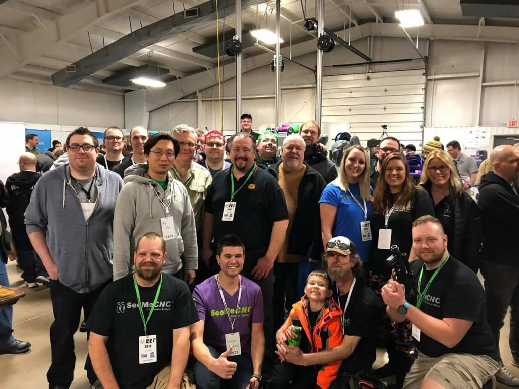 The SeeMeCNC 3D Printers Owners Group at MRRF. Photo via SeeMeCNC.