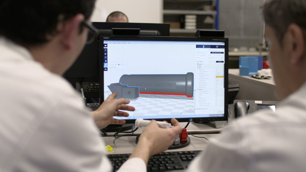 Cura 3D printing software, integrated with Ultimaker. Photo via Ultimaker
