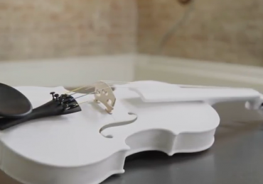 3D printed prototype of a violin. Photo via Ottawa Symphony Orchestra.